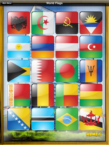 World Flags Match Em Up History Geography 世界国旗 iphone4游戏下图片