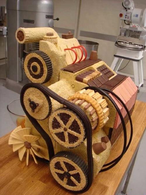 面包制作的法比亚轿车发动机