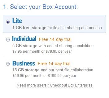 免费用户享有1gb免费空间