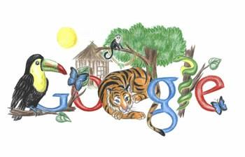 史上最强GoogleLogo!作文v作文作品展_家乡工网络初中生的英语描述学生图片