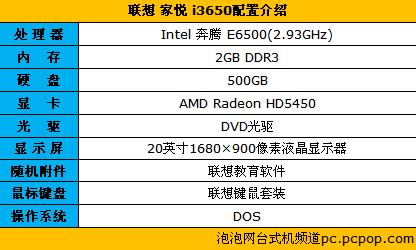 联想家悦i3650售价4507