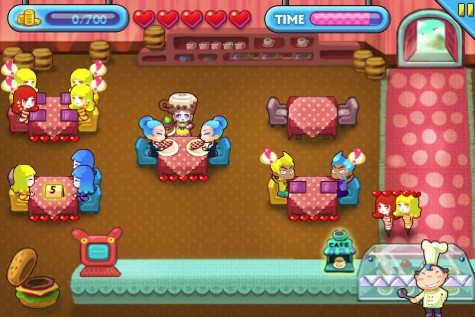 iPhone美眉模拟餐厅经营游戏 萝莉快跑