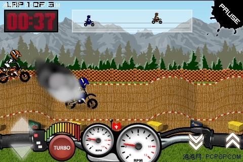 iphone卡通2d竞速游戏 越野摩托竞速赛_苹果手机应用