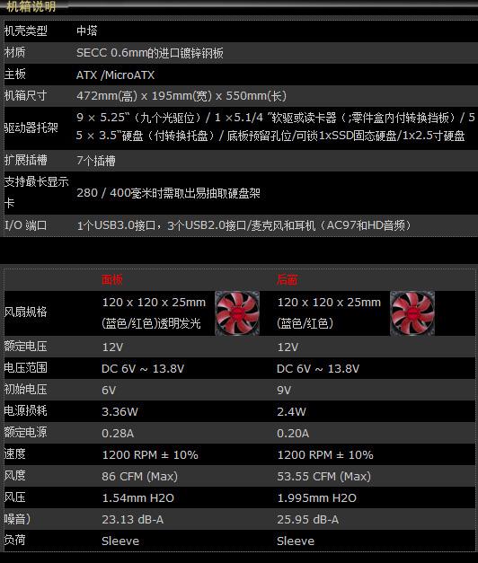 红黑色霸气玩家机箱 骇客帝国V9评测