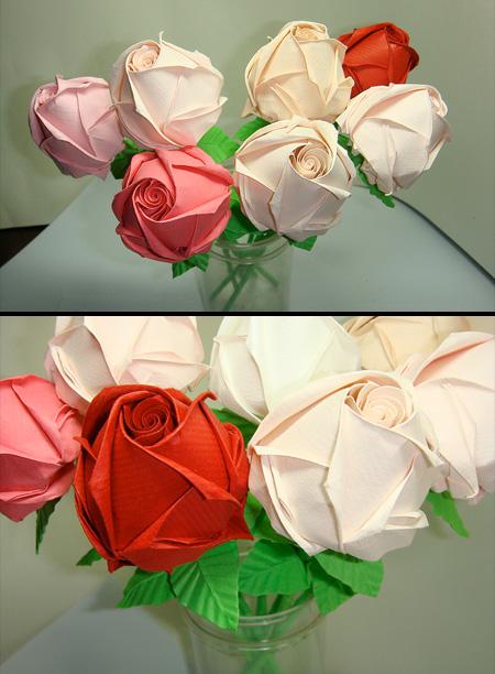 最实惠的玫瑰花集锦; 手工达人diy——最简单的玫瑰花 各种各样的纸花
