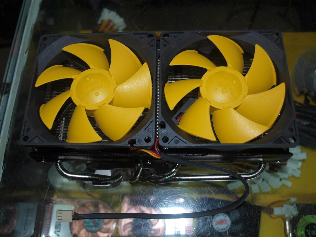 双风扇散热更强劲 几度双子龙散热器