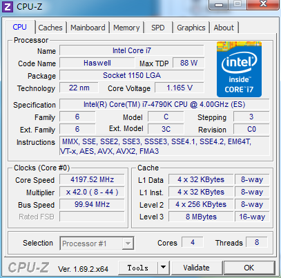 默认4GHz超频恶魔 Core i7-4790K测试