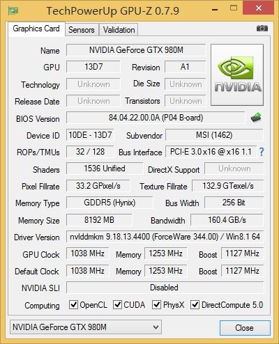 GTX980M评测