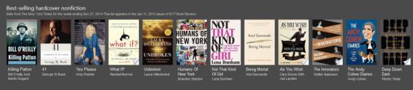 仅英文版 Bing畅销书滚动条帮你找读物
