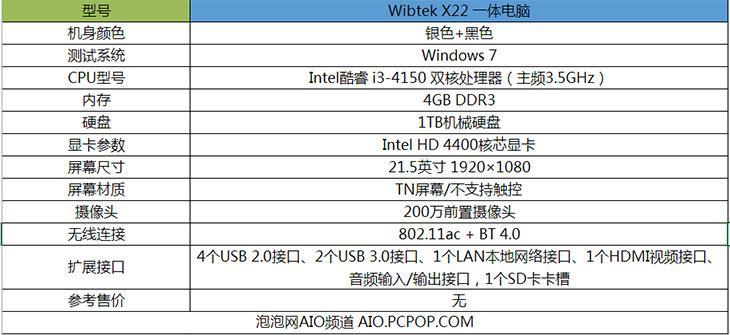 家用/行业两相宜 Wibtek X22一体机评测