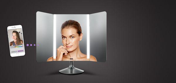 这款智能镜子能模拟各种光线下化妆效果