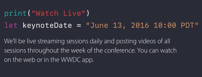 6月13日:苹果发出WWDC发布会邀请函