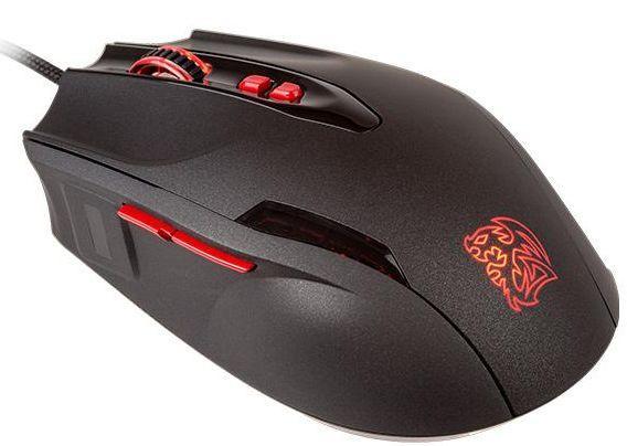 TT新款Black FP游戏鼠标:集成指纹传感器
