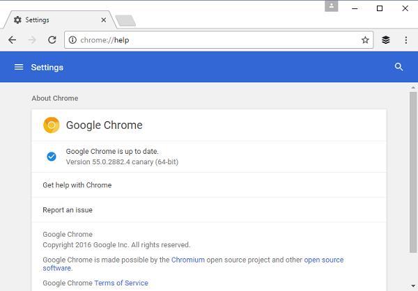 Chrome 55较Chrome 53节省35%-50%内存