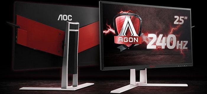 AOC推出240Hz显示器AG251FZ 支持FreeSync
