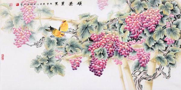 力派名家王一容工笔花鸟画收藏价值