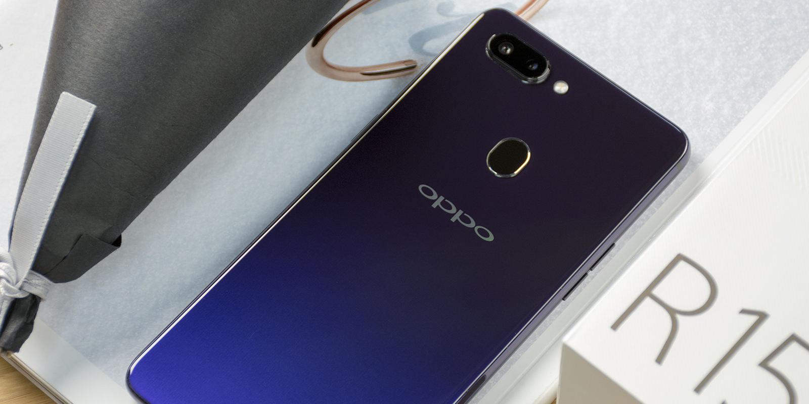 感受渐变配色之美 OPPO R15星空紫图赏