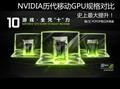 史上最大提升 NV历代移动GPU规格对比