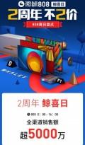 微鲸2周年销售额超5000万 京东 百威 科沃斯抱团庆生