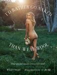 美国女演员拍裸照抗议 竟反对羊毛皮草