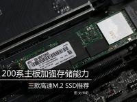 200系主板加强存储能力 M.2 SSD推荐