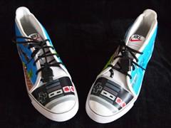 超级玛丽洛克人 DIY任天堂主机滑板鞋