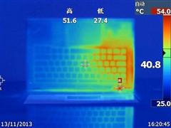 ThinkPad T440p持续满载情况下表面热量分布
