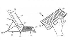 苹果最新专利申请:带触控键盘的iPad保护套
