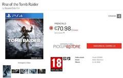 PS4版《古墓丽影10:崛起》发售日疑遭泄密