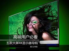 高端用户必看 五款大屏4K显示器推荐