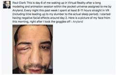 小伙戴着VR头盔睡觉:起床后被自己吓到