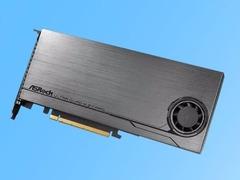 华擎发布新款M.2扩展卡 支持四块SSD阵列