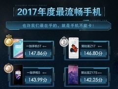 华为落榜,小米垫底!鲁大师公布2017年最流畅手机排名引发争议!