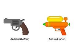"""继苹果三星后 原生安卓也修改了""""手枪""""emoji"""