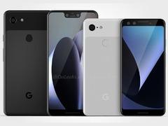后置单摄+刘海屏 谷歌Pixel 3系列渲染图放出