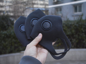 TPU弹力膜记忆材料  智米轻呼吸防霾口罩图赏