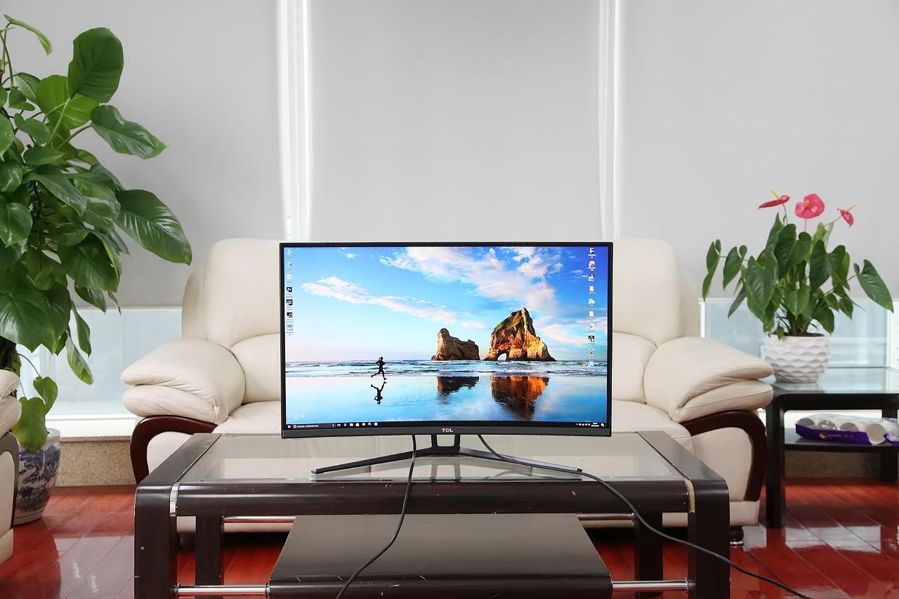 32寸曲屏游戏显示器 TCL T32M6CQ评测