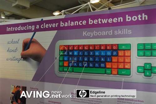 儿童专用 bnc推出彩色手写体可爱键盘
