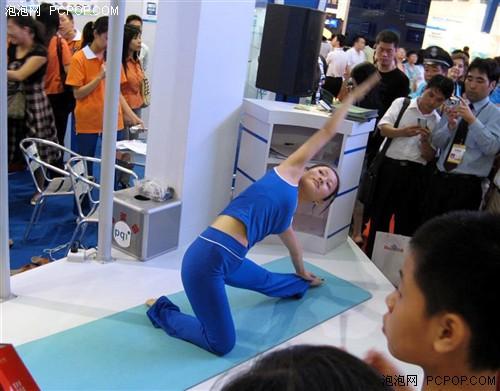瑜伽表演 美女+高难度动作
