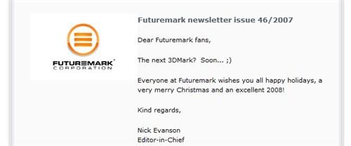 40天内见分晓!3Dmark08可能下月发布