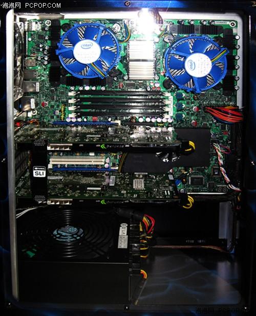 Intel双路8核Skulltrail品牌主机曝光