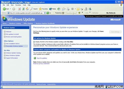 IE8导致用户不能访问Windows Update