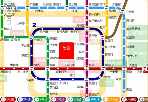 乘地铁兜遍北京城