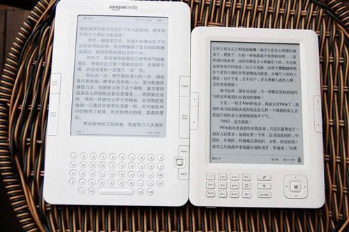 对比kindle2 台电k6电子书阅读器评测图片