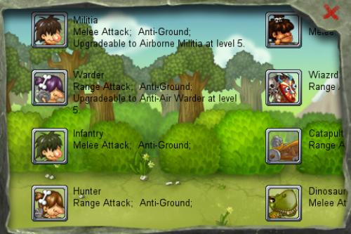 iPhone限免横版策略类游戏 远古战争