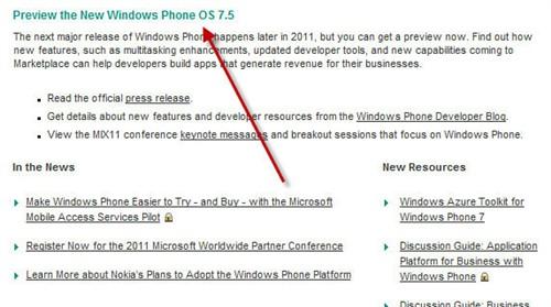 传诺基亚10月首推Windows Phone 7.5