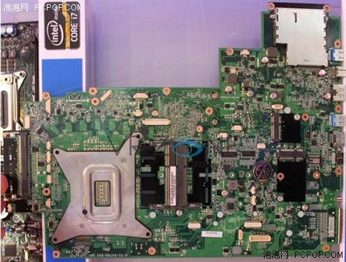 """蓝天让x79芯片组走进笔记本      这款x79笔记本主板型号""""p270wm"""""""