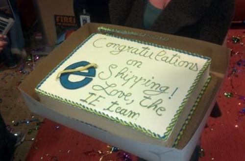 越来越小!微软IE团队送FF的那些蛋糕
