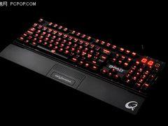 完美N键翻转!QPAD樱桃红色背光键盘