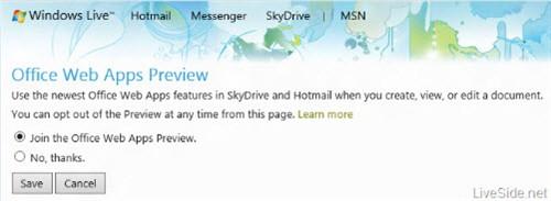 微软正准备新的OfficeWeb Apps预览版